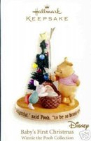 2007 Hallmark~Winnie the Pooh~BABY'S FIRST CHRISTMAS Ornament