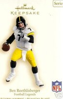 2007 Hallmark BEN ROETHLISBERGER- PITTSBURGH STEELERS Ornament