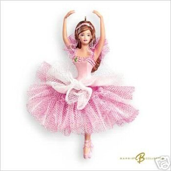 2007 Hallmark FLOWER BALLERINA BARBIE Doll Ornament