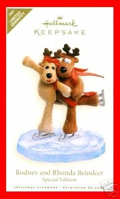 Hallmark 2007 RODNEY and RHONDA REINDEER Special Limited Ornament