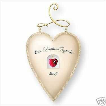 Hallmark *Our Christmas Together* Heart Ornament 2007