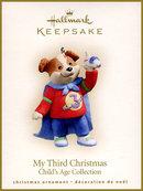Hallmark 2004 MY THIRD CHRISTMAS~AIRPLANE~Boy Ornament