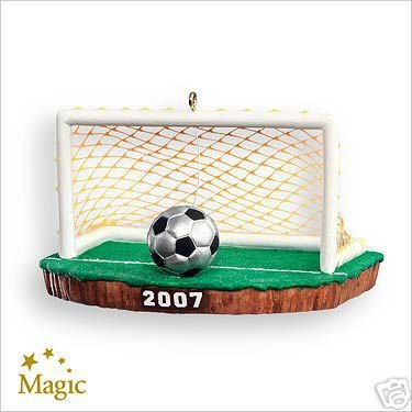 2007 Hallmark SOCCER~TAKE YOUR SHOT! Includes Batteries