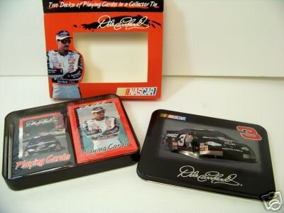 Dale Earnhardt #3 NASCAR 2 Decks Playing Cards in 3D Collectible Tin