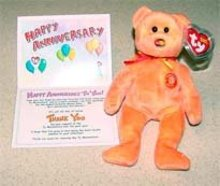 Ty M.C. Beanie Baby Anniversary 3rd Edition w/ Card 2004 Mastercard