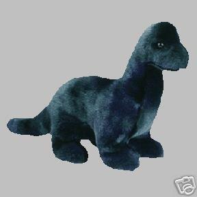 Ty BRONTY Dinosaur~ Ty-Dyed Beanie Buddy Plush Brontosaurus -Mint!