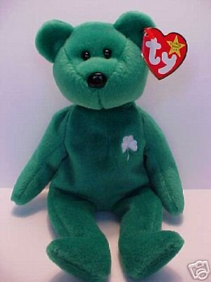 46da4f094bd Ty ERIN Beanie Baby Bear~Irish Shamrock Green~NEW