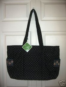 NEW! Vera Bradley BABY DIAPER BAG~Retired Alpine Black
