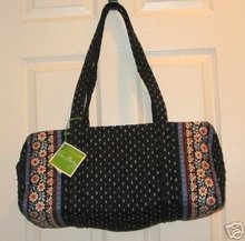 NEW! Vera Bradley SMALL DUFFEL BAG~Retired Alpine Black