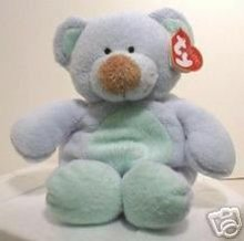 Ty BLUEBEARY Pluffies~Blue Bear Cub~ Baby Ty~Pluffie