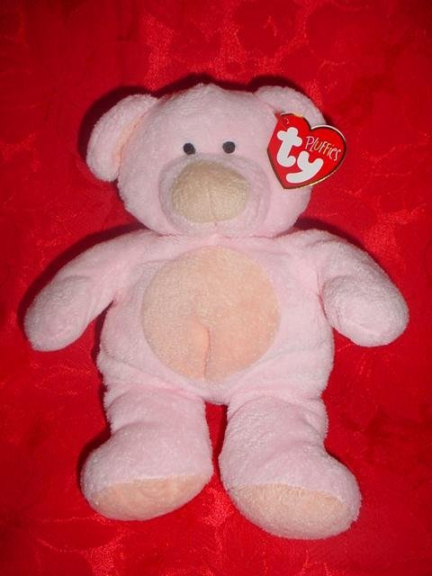 Ty PINKS Pluffies~Pink Bear Cub~ Baby Ty~Pluffie~Ty Lux~NEW!