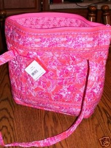Vera Bradley VILLAGER Bag~Pink Hope Toile~New w/ Tags
