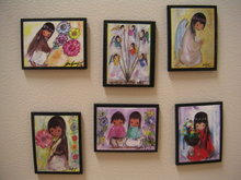 6 DeGrazia Ceramic MAGNETS~Southwest~Indians