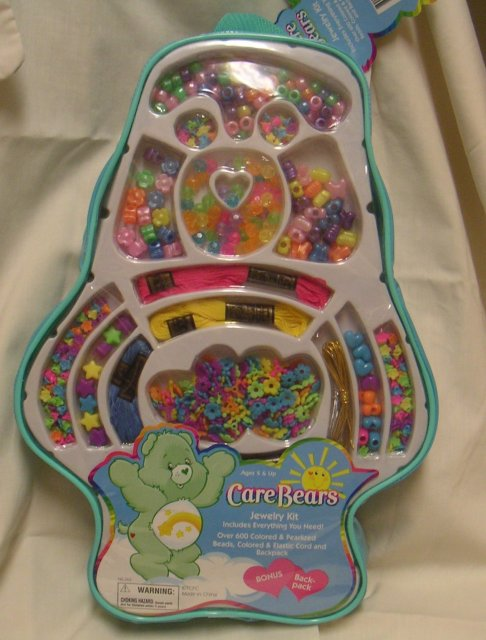 Care Bears JEWELRY KIT~Over 600 Pieces+ Backpack
