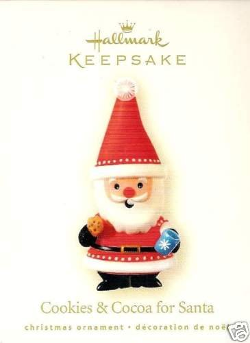 2008 Hallmark Cookies & Cocoa for Santa~Christmas Ornament