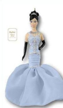 Hallmark 2008 PORCELAIN SOIREE BARBIE Fashion Model~Club Ed Ornament