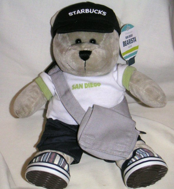 Starbucks SAN DIEGO Bearista Bear~Plush with Clothes~2008