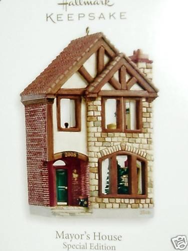 Hallmark 2008 MAYOR'S HOUSE~Nostalgic Shops ~Limited Edition Anniversary Christmas Ornament