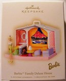 HALLMARK 2007 BARBIE FAMILY DELUXE HOUSE+DOLL~2 ORNAMENTS