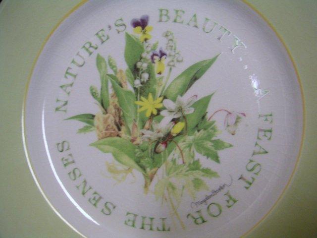 MARJOLEIN BASTIN Floral Ceramic Plate~Hallmark