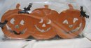 Hallmark Halloween Pumpkin Tealight Candle Holder~Metal ~for 3 Candles