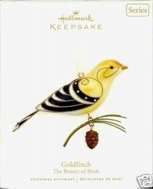 Hallmark 2008 GOLDFINCH~#4 Beauty of Birds Ornament Series