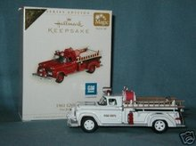 2006 Hallmark GMC Fire Brigade #4 Fire Engine~ Colorway/REPAINT Ornament