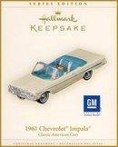 2006 Hallmark 1961 Chevrolet Impala~Classic America Cars #16 in Series Ornament~Chevy