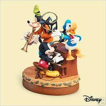2006 Hallmark Disney's Sing-Along Pals~Magic Ornament~Mickey, Donald and Goofy~