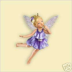 2006 Hallmark~PANSY FAIRY~2nd In Fairy Messenger Series~Ornament