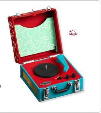 New! 2008 Hallmark COOL YULE RECORD PLAYER~Club Exclusive MAGIC Ornament~3 Records