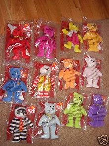 McDonalds 25th Anniversary Set of 12 TY BEARS~Happy Meal~Sealed Bags