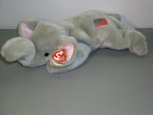 RIGHTY Ty REPUBLICAN Plush Beanie Buddy ELEPHANT
