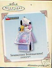 Hallmark SNOOPY SPRINGTIME INSPIRATIONS 2005 Easter Ornament~Peanuts