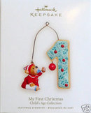 Hallmark 2007- 2008 BABY'S FIRST CHRISTMAS~No Date Undated Ornament~1st