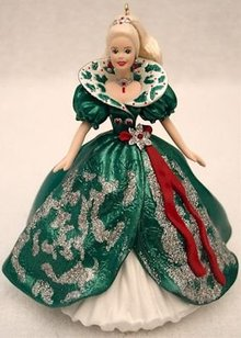 1995 Holiday Barbie~Hallmark Christmas Ornament~ #3 in Series