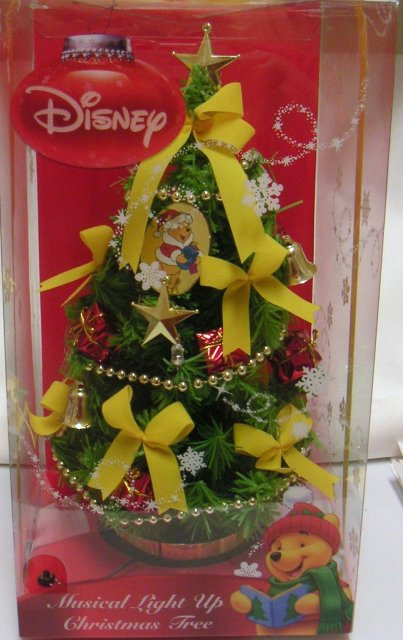 Winnie the Pooh CHRISTMAS TREE~Musical Light Up~Disney~10