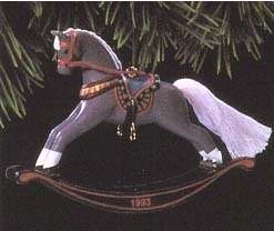 1993 Hallmark  Rocking Horse~13th in Christmas Ornament Series