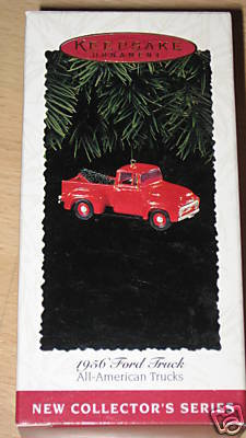 1995 Hallmark Ornament 1956 Ford Truck~Die-Cast