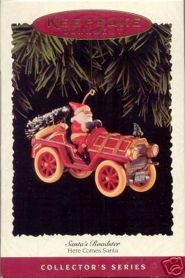 Hallmark 1995 Santa's Roadster~17th in Here Comes Santa Series~Christmas Ornament