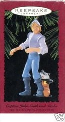 Hallmark 1995 Captain John Smith and Meeko~Pocahontas Christmas Ornament~Disney