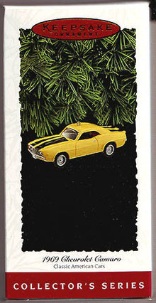 1995 Hallmark 1969 Chevrolet Camaro Christmas Ornament~#5