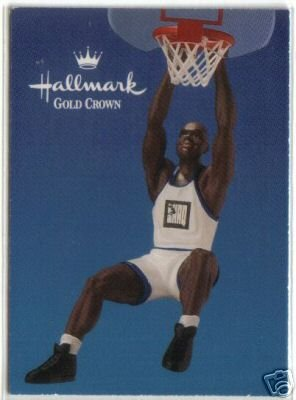 Hallmark, 1995  Hoop Stars~SHAQ~Christmas Ornament w/ Trading Card~Basketball~SHAQUILLE O'NEAL