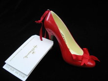 2008 Hallmark Peace Red High Heel Shoe Christmas Ornament