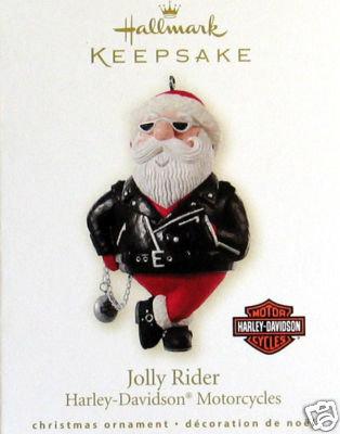 2008 Hallmark JOLLY RIDER: Harley-Davidson Motorcycles Ornament