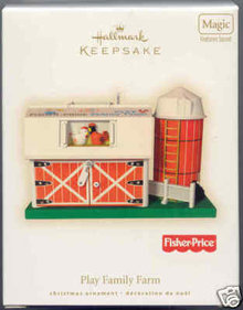 2008 Hallmark PLAY FAMILY FARM~Fisher Price~Sound~Christmas Ornament-NEW