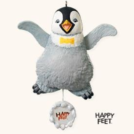 2008 Hallmark MUMBLE DANCES! Happy Feet Christmas Ornament