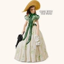 2008 Hallmark SCARLETT O'HARA~Porcelain~Gone with the Wind Christmas Ornament