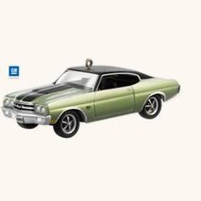 2008 Hallmark 1970 CHEVROLET CHEVELLE SS~Die-cast Car Ornament
