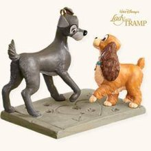 2008 Hallmark SIGNS of AFFECTION~Lady & the Tramp Christmas Ornament